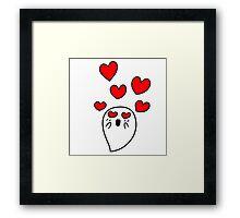 Little Ghost in Love Framed Print