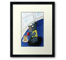 Chance 'Schnauzer Security' Framed Print