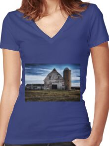 The Old Family Farm 2 Women's Fitted V-Neck T-Shirt
