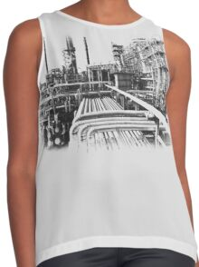 Old Refinery Industry Vintage Style T-Shirt Contrast Tank