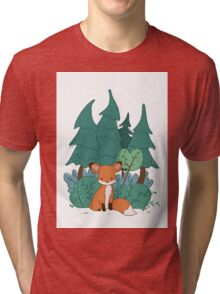 Forest Baby Fox Tri-blend T-Shirt