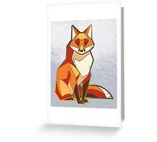 Angular fox Greeting Card
