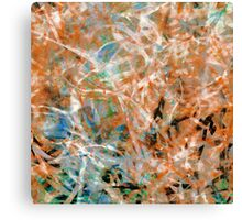 Abstract Expressionist Dance in Teal, Rust and Brown Canvas Print