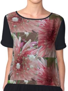 Pink Flowers Chiffon Top