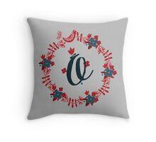 Scandinavian Monogram O Throw Pillow