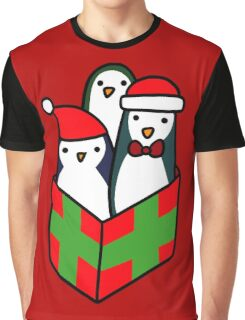 Christmas Gift Penguins Graphic T-Shirt