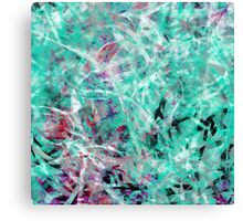 Abstract Expressionist Dance in Light Green, Red, Black and White Canvas Print