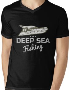 Deep Sea Fishing T-Shirt Mens V-Neck T-Shirt