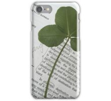 Four Leaf Glover iPhone Case/Skin