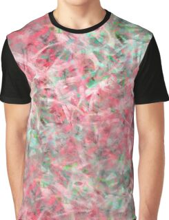 Abstract Expressionist Dance in Pink, Green and White Graphic T-Shirt