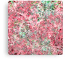 Abstract Expressionist Dance in Pink, Green and White Canvas Print