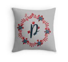 Scandinavian Monogram P Throw Pillow