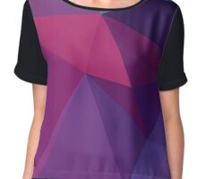 Pointy Purple Chiffon Top