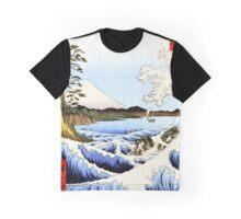 Sea and waves at Satta  Suruga Japanese woodcut Graphic T-Shirt