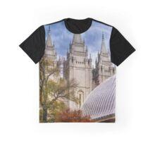 Salt Lake Lds Temple And Tabernacle - Utah Graphic T-Shirt