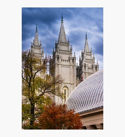 Salt Lake Lds Temple And Tabernacle - Utah Photographic Print