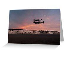 Coastal Spitfires Greeting Card