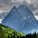 Mountain Zugspitze. Germany. by Daidalos
