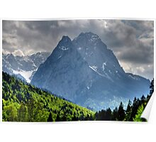 Mountain Zugspitze. Germany. Poster
