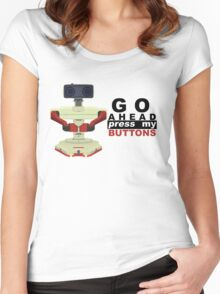 Robot R.O.B. Vector Women's Fitted Scoop T-Shirt
