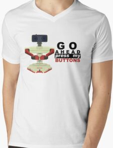 Robot R.O.B. Vector Mens V-Neck T-Shirt