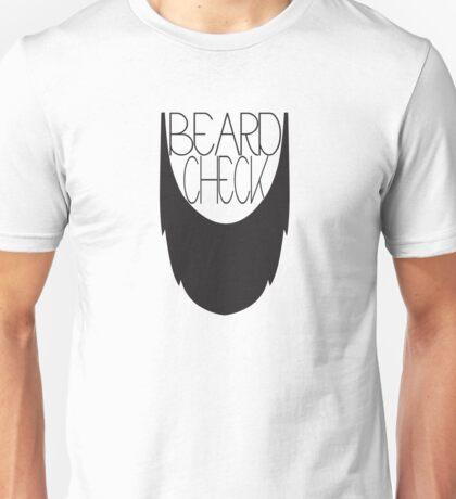 Beard Check Unisex T-Shirt