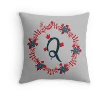 Scandinavian Monogram Q Throw Pillow