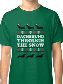 Dachshund Through the Snow Classic T-Shirt