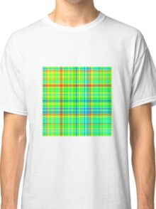 Plaid Gradient - Blue | Cyan | Green | Yellow | Red Classic T-Shirt