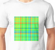 Plaid Gradient - Blue | Cyan | Green | Yellow | Red Unisex T-Shirt