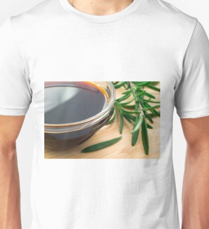 Defocused and blurred image of soy sauce Unisex T-Shirt