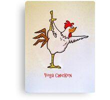 Yoga Chicken Canvas Print