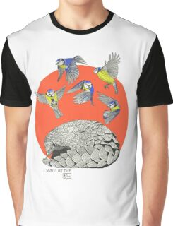 Pangolin and Birds Graphic T-Shirt