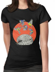 Pangolin and Birds Womens Fitted T-Shirt