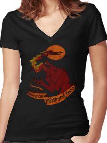 Human Heart, Monster Soul Women's Fitted V-Neck T-Shirt