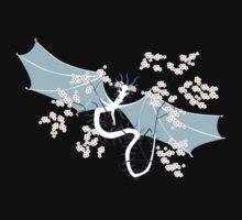 Cherry Tree Dragon - White and Blue T-Shirt