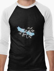 Cherry Tree Dragon - White and Blue Men's Baseball ¾ T-Shirt