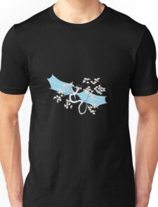 Cherry Tree Dragon - White and Blue Unisex T-Shirt