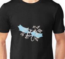 Cherry Tree Dragon - White and Blue Unisex T-Shirt