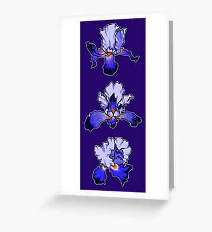 Iris -  February Birth Month Greeting Card