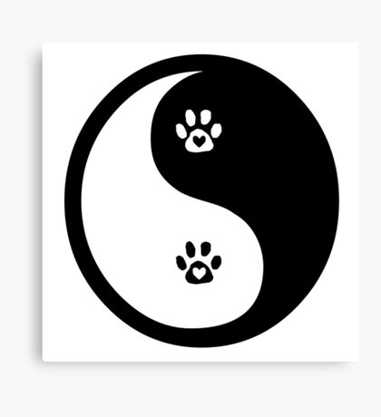 love for animals is the balance (black) Canvas Print
