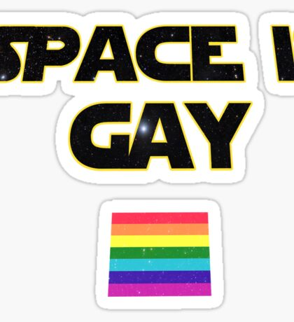 space is gay  Sticker