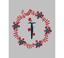 Scandinavian Monogram T Photographic Print