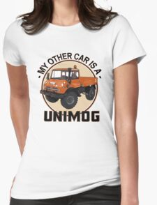 My other car is a Unimog - Orange Womens Fitted T-Shirt