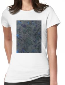 Abstract Grey Topography Womens Fitted T-Shirt