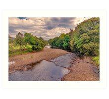 River Swale in Autumn Art Print