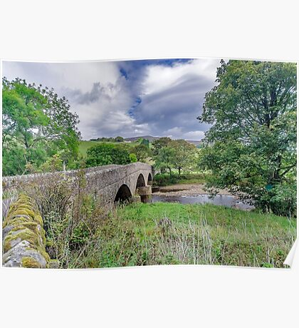 Swaledale Packhorse Bridge Poster