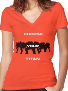 Choice of Titan Women's Fitted V-Neck T-Shirt