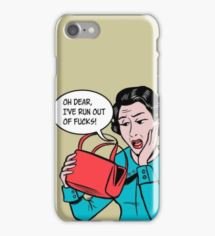 Out of Fucks iPhone Case/Skin