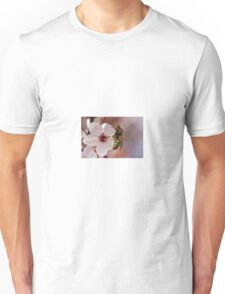 bee on flowers Unisex T-Shirt